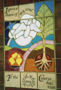 Dove Tile panel, Garden of Rememberance, Brookwood cemetery, Eadtleigh