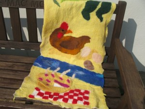 Chicken banner drying