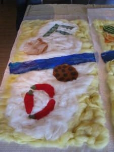 Food panel ready to felt