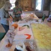 Melamie assembling the Local Food banner thumbnail
