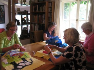 Sue, Iris, Suzie and lacemaker at Windhover