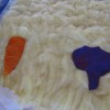 The first pre-felt shapes on the unfelted background thumbnail