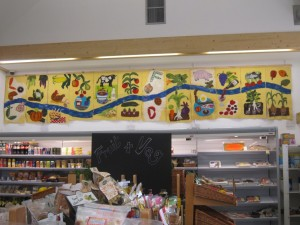 view of shop interior with felt banners in siyu