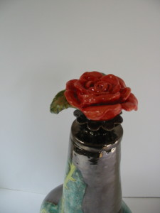 Alchemical rose pot lid