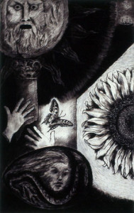 Charcoal drawing-Towards the birth of future Summers
