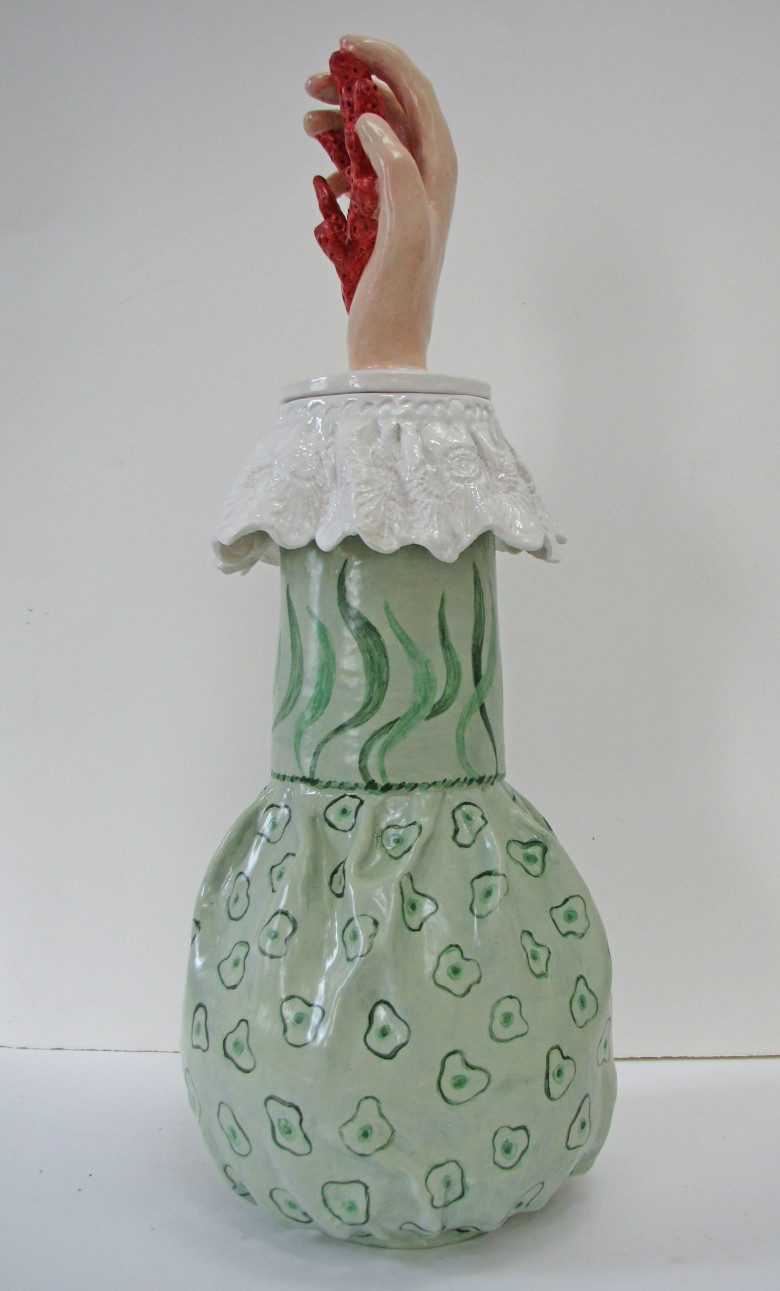 Coral pot side view 2