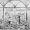 Drawing for Spitalfields Mural thumbnail