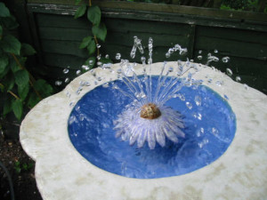 Flower fountain working