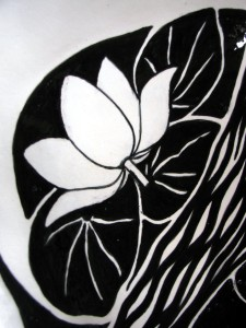 Lotus River Dish detail