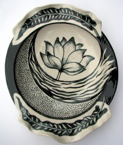 Lotus and fern dish