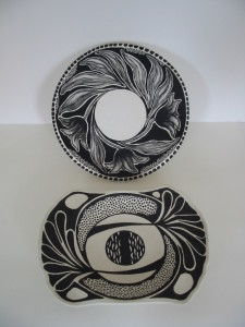 Tulip Bowl and Tree Plate