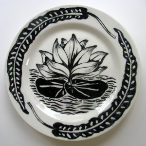 Waterlily plate